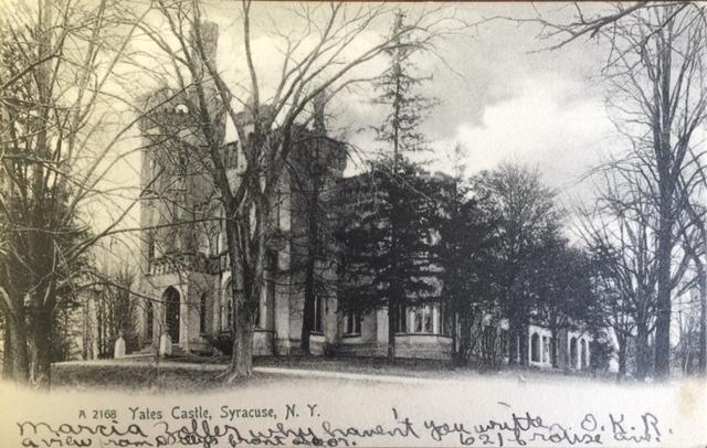 Postcard of Yates Castle, postmarked 1905